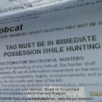California Bobcat Tag