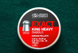 New JSB Exact King Heavy Diabolo 33.95 Grain Pellets
