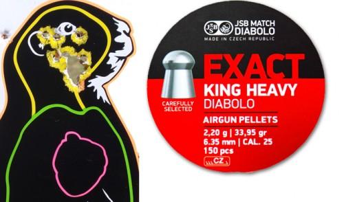 JSB Exact King Heavy – 33.95 Grain – .25 cal – Diabolo Pellet Range Report