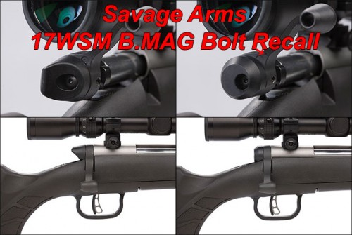 Savage Arms Issues Recall Notice on 17WSM B.MAG Rifle Bolts