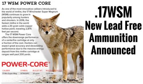 Winchester Announces 17WSM Lead Free 20 Grain Ammunition