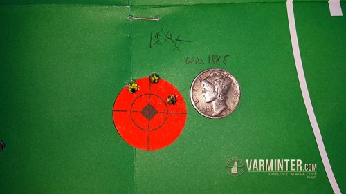 First Groups at 100 Yards
