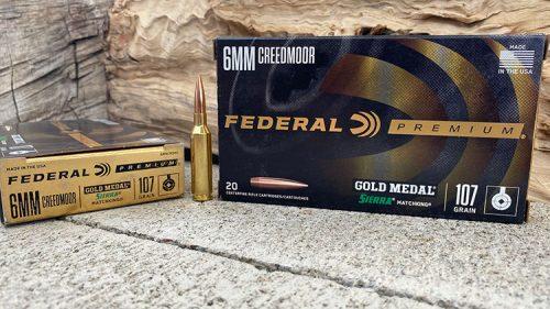 Federal Premium 107 grain SMK - 6mm Creedmoor Ammunition